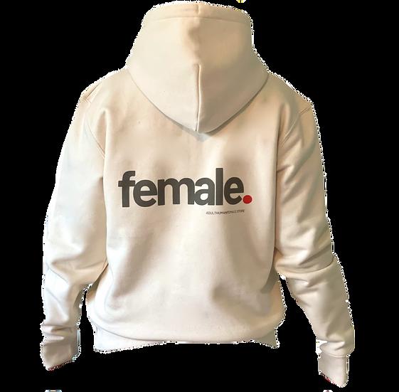 female organic hoodie (natural)
