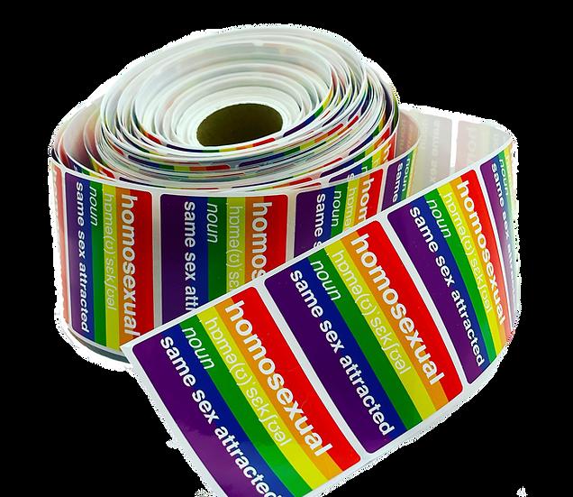 homosexual definition sticker