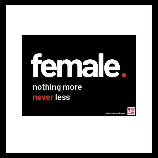 Female - A4 mighty stickers