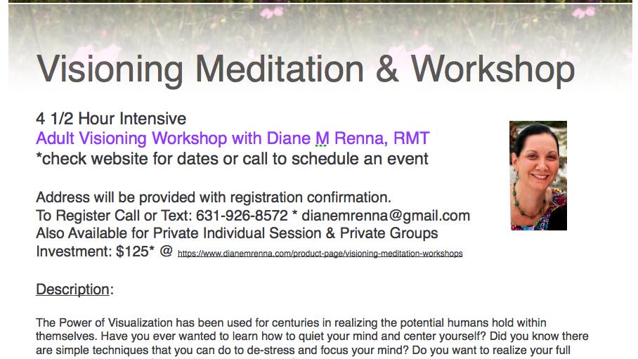 Visioning Meditation & Workshop w/lunch