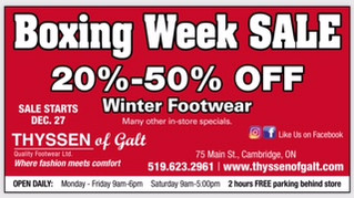 Boxing Week Sale...