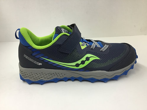 Saucony Peregrine Shield in blue/green