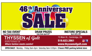 46th ANNIVERSARY SALE