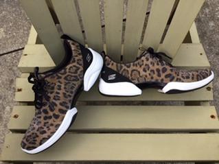 Leopard print sneakers...