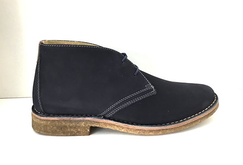 JOhnston & Murphy Donnelson plain toe chukka navy