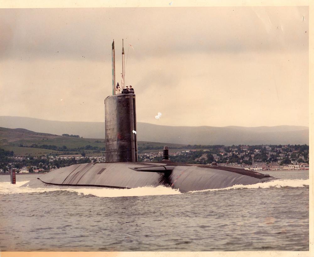 My old submarine, HMS VALIANT, circa 1983-4, a nuclear powered hunter killer