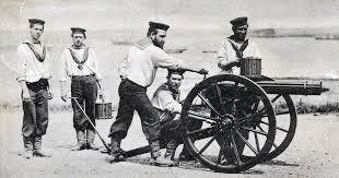 Royal Navy sailors in Sudan