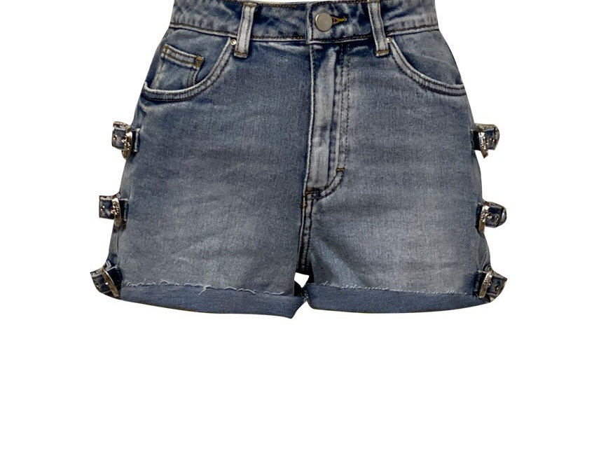 BUCKLE SHORT BLUE
