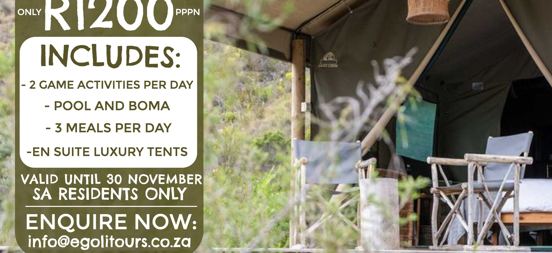 Gondwana Tented Eco Camp - Glamping