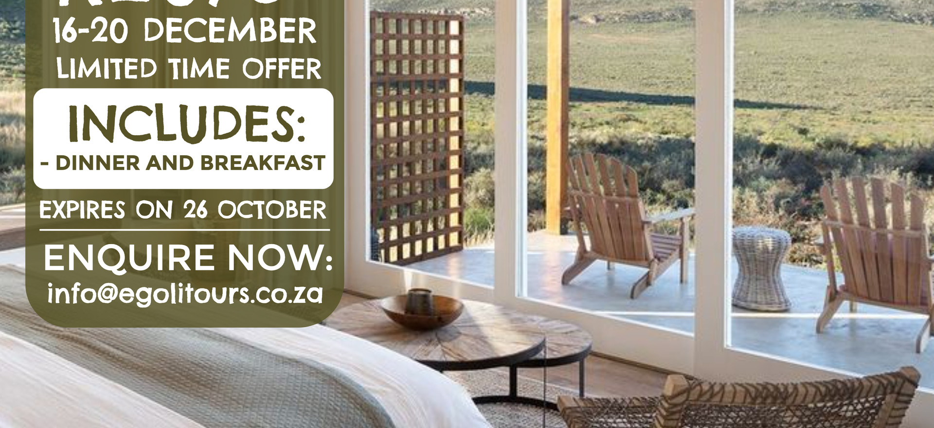 Cederberg Ridge Wilderness Lodge 16.12.2020 - 20.12.2020