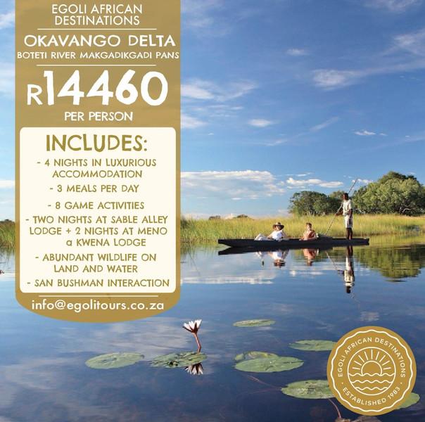 Okavango and Makgadikgadi Pans Bucket List