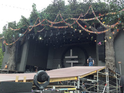 The main stage