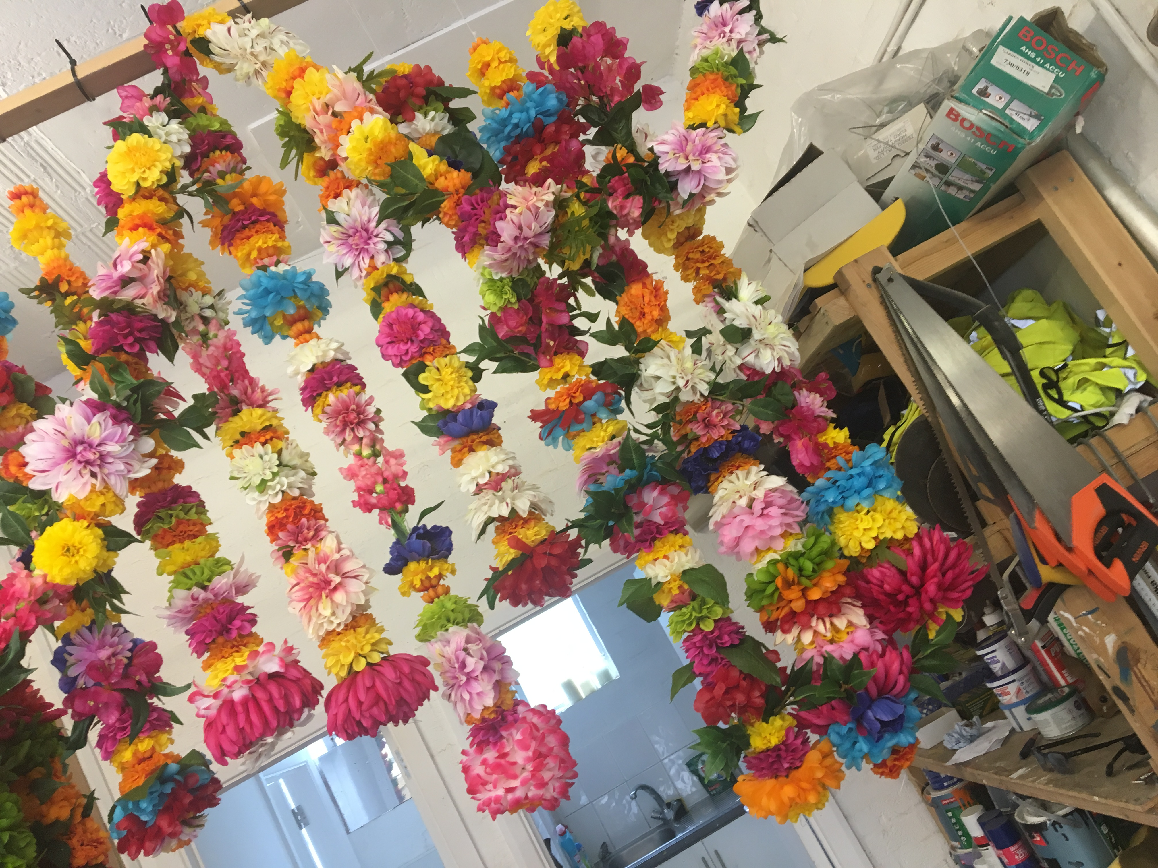 Flower Garland for the tour