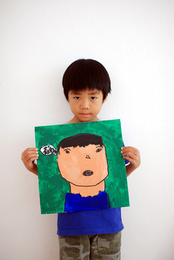 Self Portrait by Joshua, 6 yrs old
