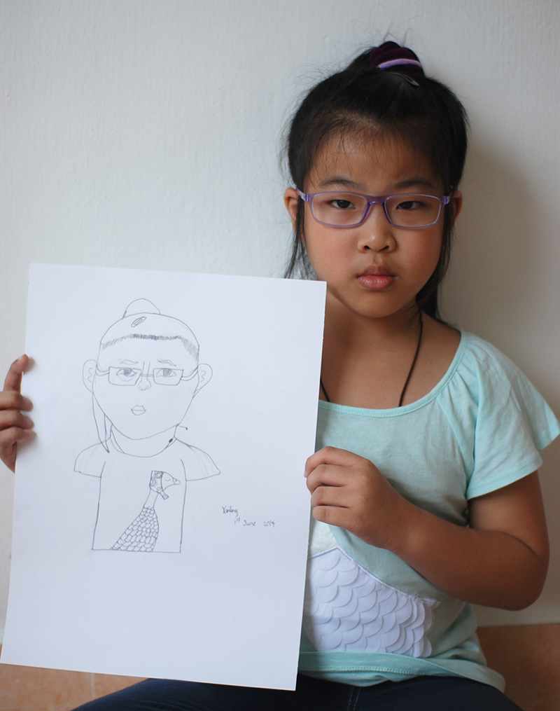 Self Portrait by Yan Tong, 8 yrs old