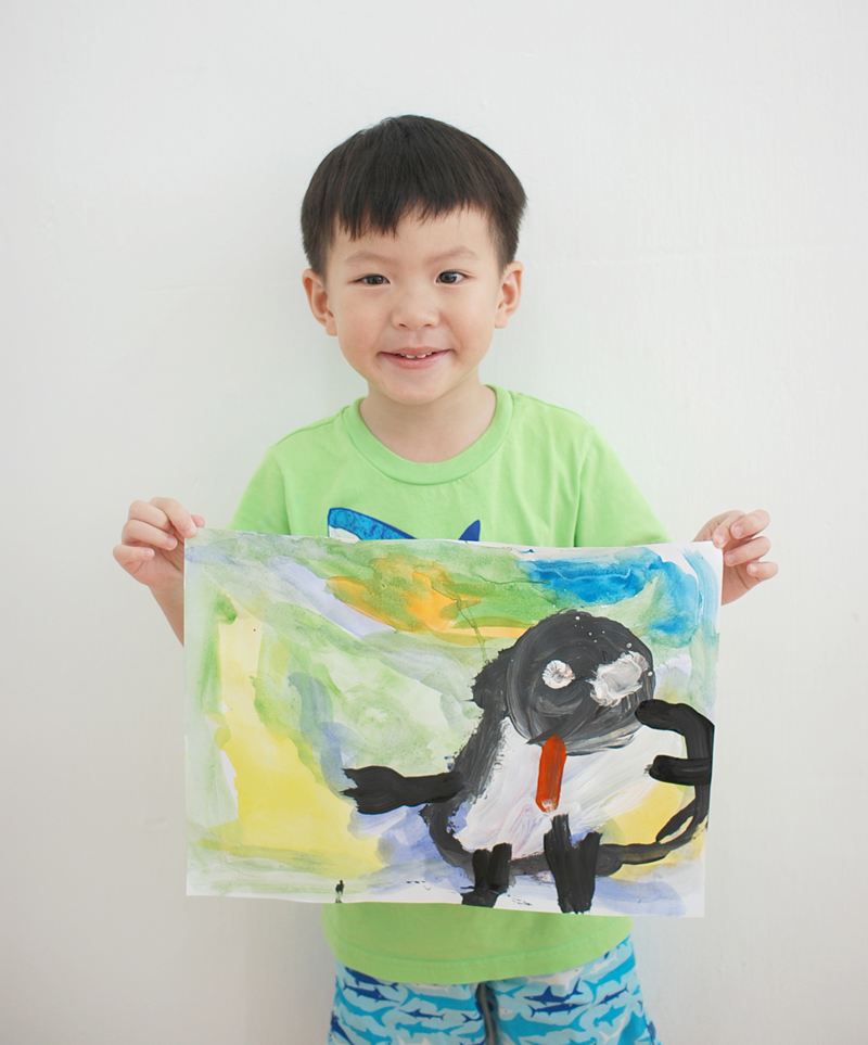 Penguin by Gavin 3 yrs old