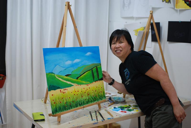 Utter Studio Landscape by Rosalind