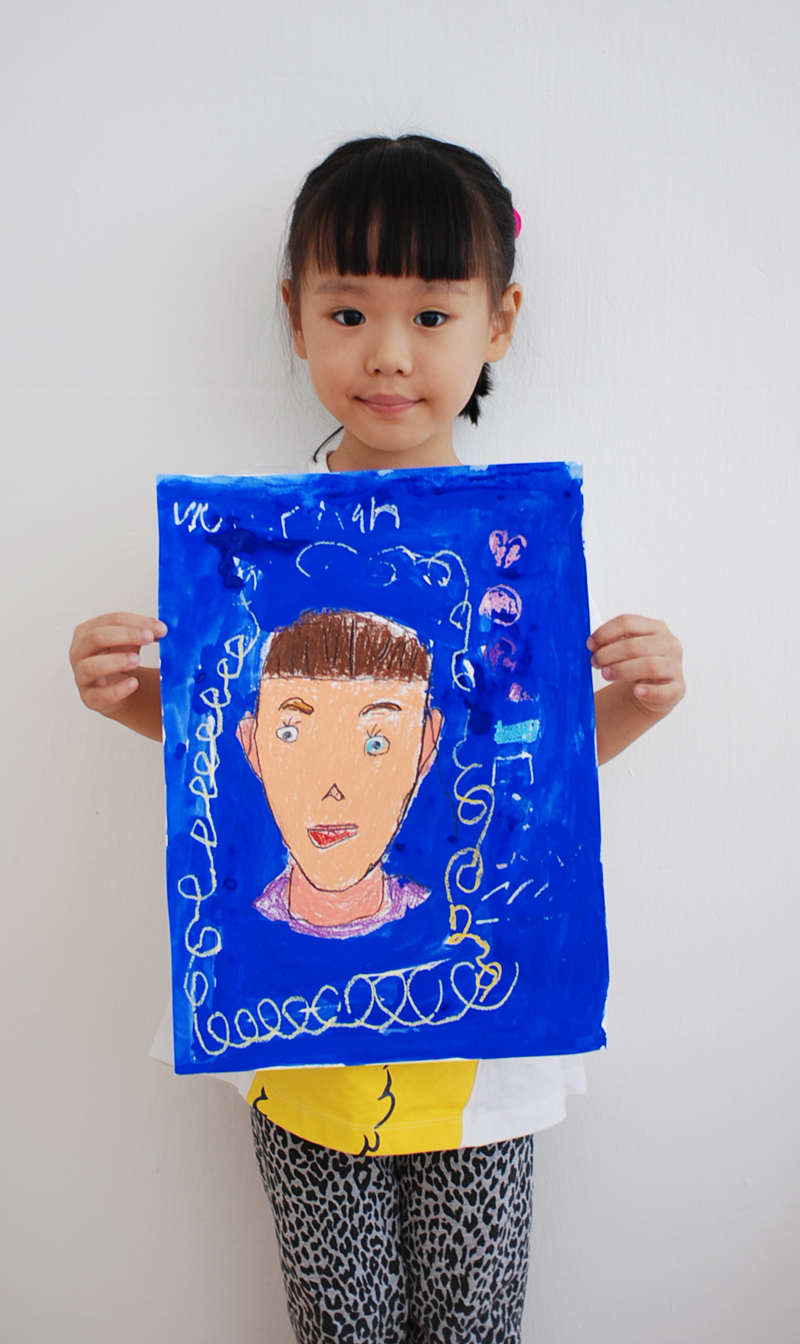 Self Portrait by Yi Xuan, 5 yrs old