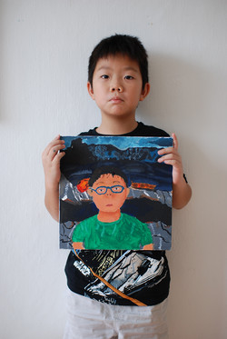 Self Portrait by Timotheus, 9 yrs ol