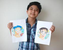 Self Portrait by Kurt, 13 yrs old