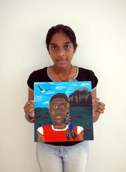 Self Portrait by Nithya, 12 yrs old