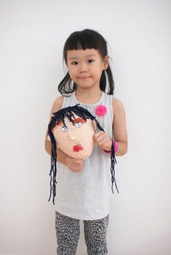 YiXuan 5 yrs old Self portrait mask