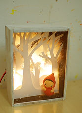 Lighted diorama for holiday workshop