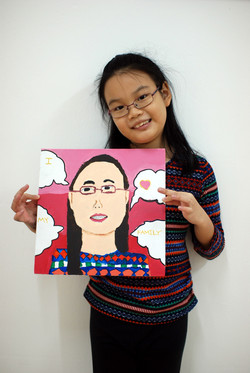 Self Portrait by En Hui, 8 yrs old