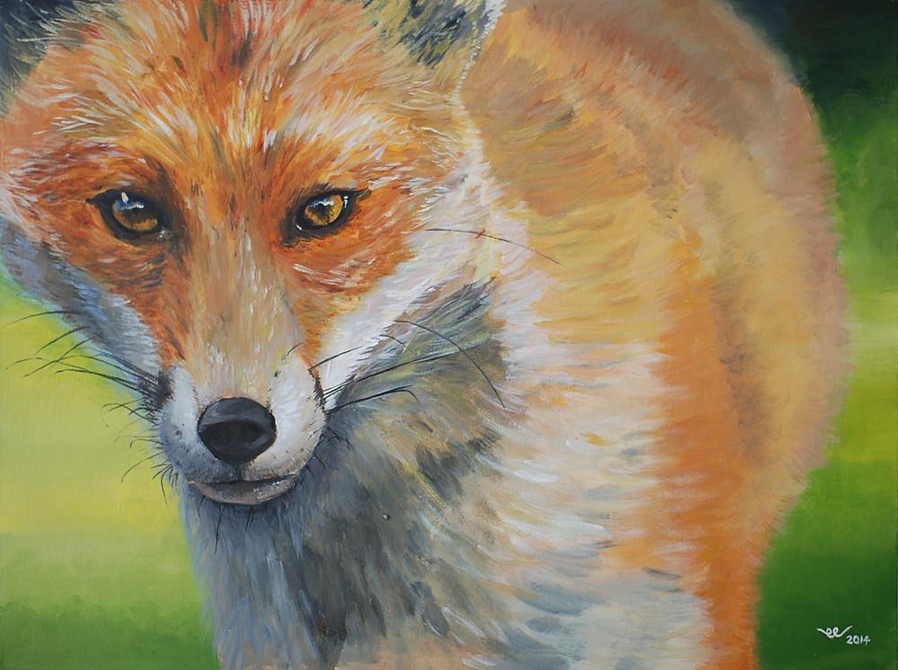 Acrylic painting by Ee Sock - Fox