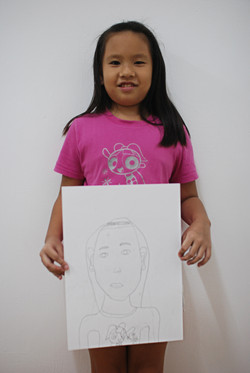 Self Portrait by Kathleen, 8 yrs old