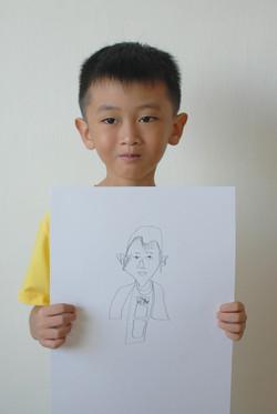 Self Portrait by Sam, 7 yrs old