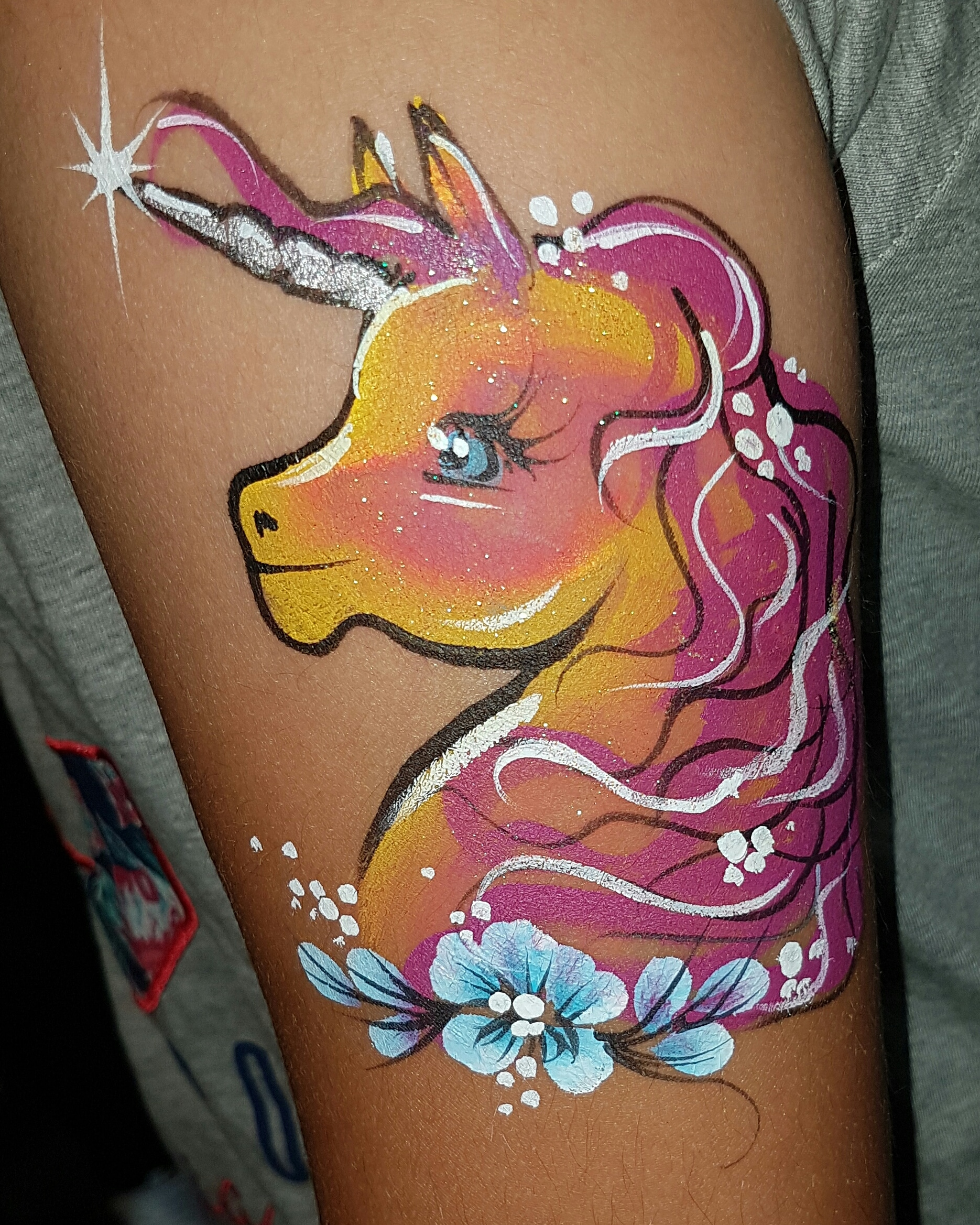 Unicorn arm painting