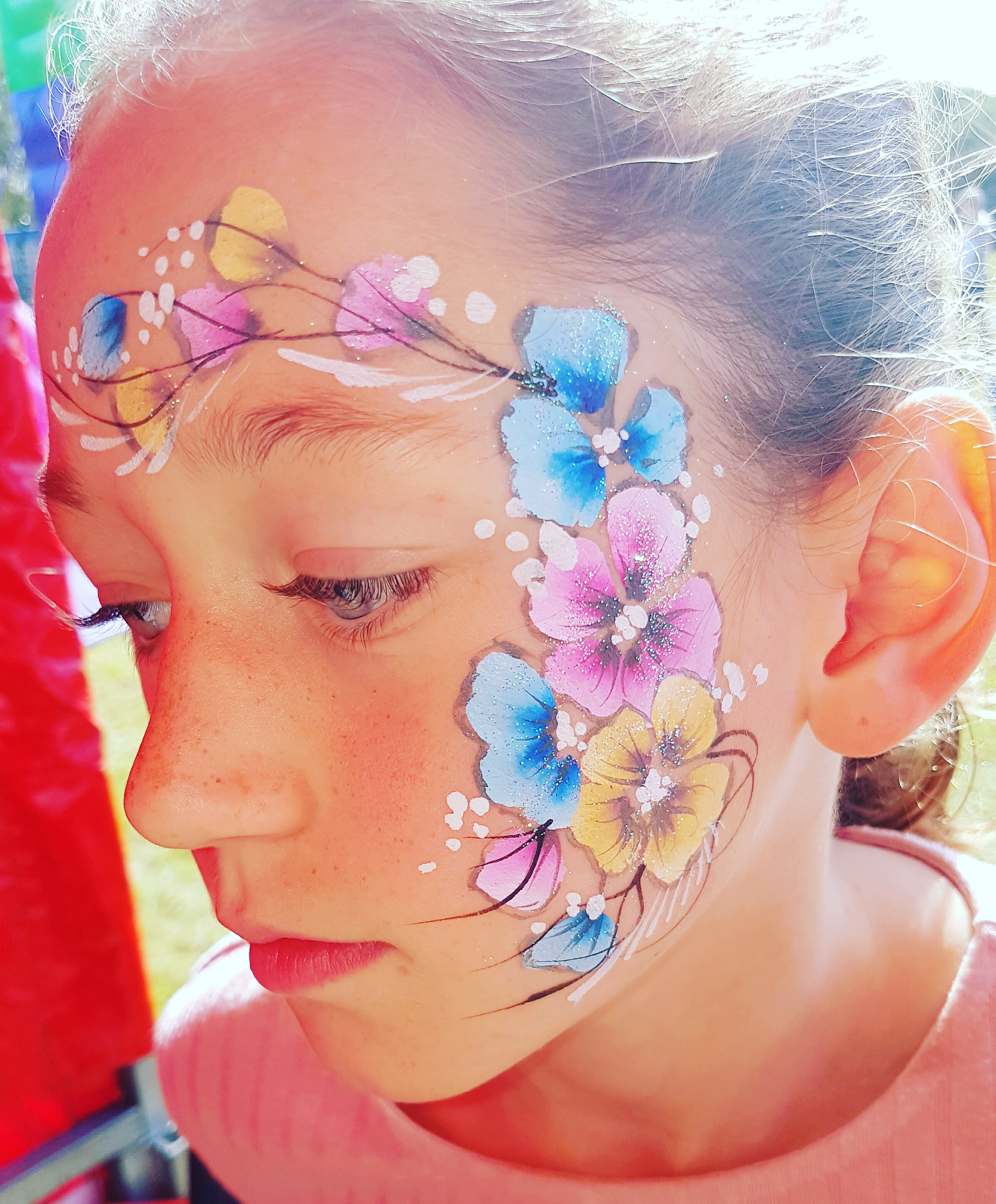 Flowers face paint