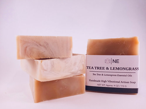"Handcrafted Artisan Soap ""Tea tree & Lemongrass"""