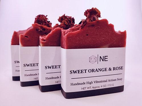 "Handcrafted Artisan Soap ""Sweet Orange & Rose"""