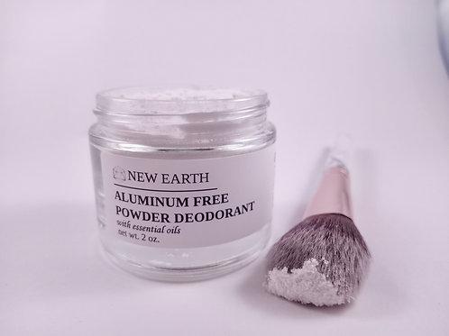 Aluminum Free Powder Deodorant with Essential Oils