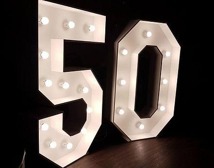 4 foot light up number 50