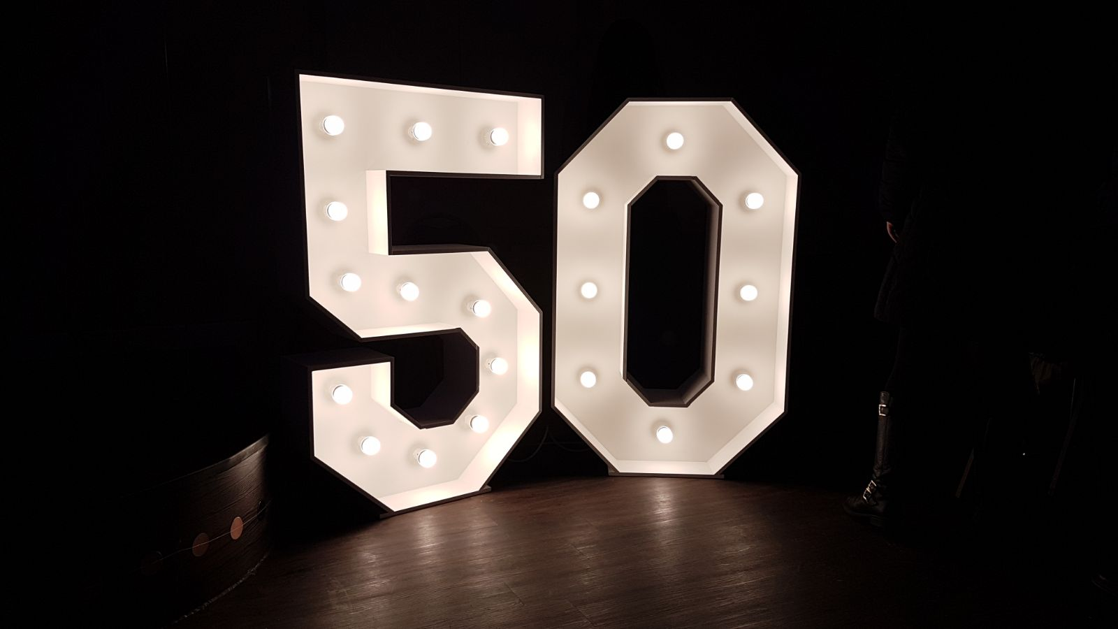 4ft light up number 50