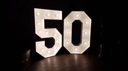 4ft light up number 50