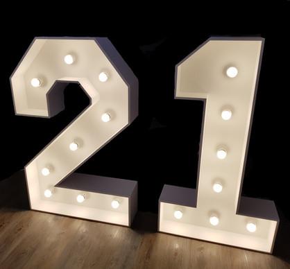 4 foot light up number 21