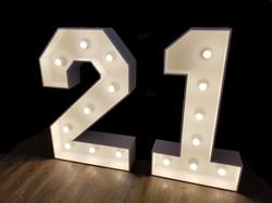 4ft light up number 21