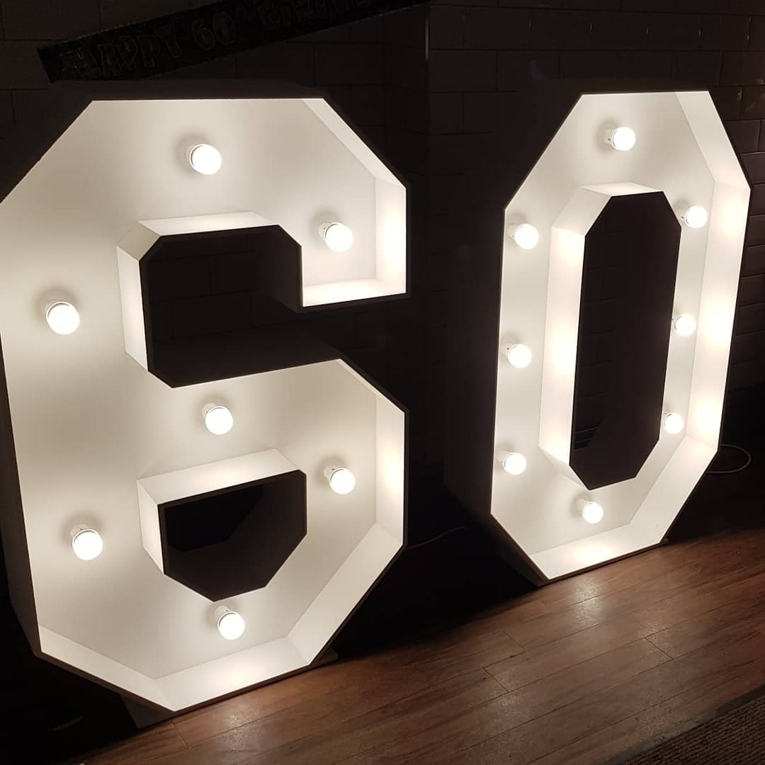 4ft light up number 60