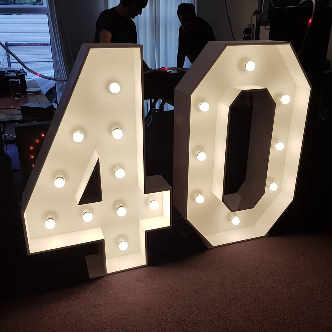 4ft light up number 40