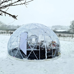 Beautiful Igloo Set Up In The Snow