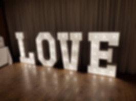 4 foot light up letters spelling Love