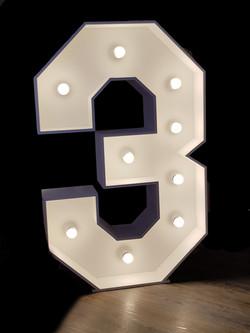 4ft light up number 3
