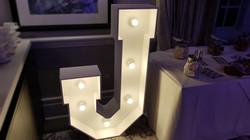 4ft light up letter J