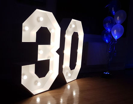 4 foot light up number 30
