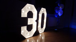 4ft light up number 30