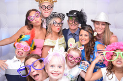 Group photo in the photo booth